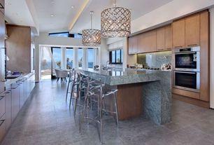 Contemporary Kitchen with Maisons - seattle chaise de bar transparente bar chair (similar), Concrete tile floors