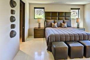 Contemporary Guest Bedroom with Concrete tile