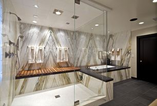 Contemporary Master Bathroom with drop in bathtub, Master bathroom, Frameless  glass showerdoor, Shower, Standard height