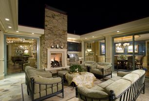 Traditional Porch with Outdoor kitchen, exterior stone floors, Tommy Bahama by Lexington Home Brands Kingstown Sedona Sofa