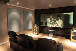 Contemporary Home Theater with Paint, Home theater seating seatcraft sienna