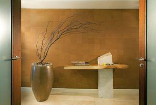 Modern Entryway with Tiago Tall Floor Vase, Rosso 6 in. x 6 in. Porcelain Floor Tile, Maximum 209 Interior Double Door Wenge