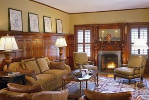 Traditional Living Room with Casement, Standard height, Fireplace, Crown molding, insert fireplace, Portofino 3 Seat Sofa