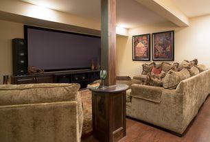 Contemporary Basement with Vita V Home 4-in. Metal Globe Ball, Laminate floors, Columns, Exposed beam