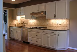 Traditional Kitchen with Maple - Cherry 4 in. Solid Hardwood Plank