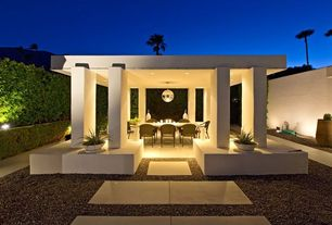 Contemporary Porch with Pathway, Gazebo, Fence, exterior concrete tile floors, exterior tile floors