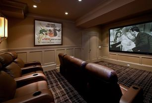 Traditional Home Theater with Paint, Berkline 12003 reno