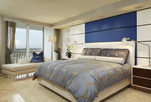 Contemporary Master Bedroom with Safavieh cozy beige shag rug (8'6 x 12'), Paint, Paint 2