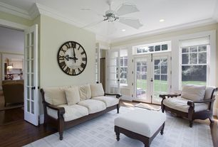 """Traditional Living Room with Howard Miller - Gallery Lacy Quartz Oversized 32"""" Wall Clock"""
