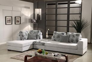 Modern Living Room with Concrete floors