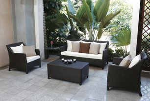 Contemporary Patio with exterior tile floors, exterior terracotta tile floors, Indoor/outdoor living