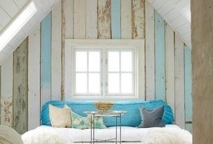 Traditional Attic with Hardwood floors, Standard height, Casement, Skylight