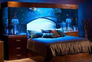 Eclectic Master Bedroom with Acrylic Tank Manufactorers, Aquarium bed, Fish tank