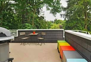 Contemporary Deck with exterior terracotta tile floors, exterior tile floors