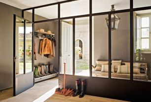 Contemporary Mud Room with Quorum lighting-7815-45-stelton - one light large hanging lantern