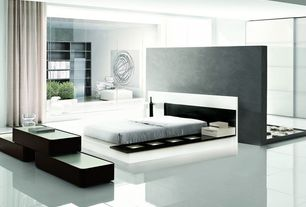 Modern Master Bedroom with Impera modern-contemporary lacquer platform bed