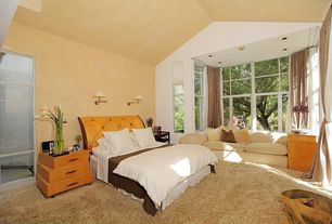 Contemporary Guest Bedroom with Carpet