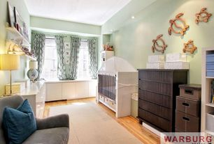 Contemporary Kids Bedroom with Standard height, Laminate floors, no bedroom feature, can lights, specialty window, Carpet