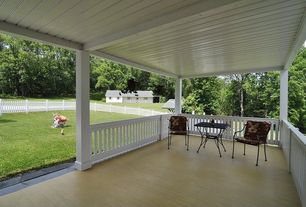 Traditional Porch with Deck Railing, Gazebo, Fence, Wrap around porch