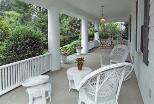Traditional Porch with exterior tile floors, exterior concrete tile floors, Wickerwarehouse.com - wicker elephant table