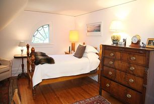 Eclectic Guest Bedroom with Hardwood floors