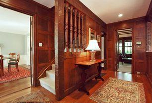 Craftsman Hallway with Hardwood floors