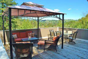 Modern Deck with Sunjoy Garland 10 Ft. W x 10 Ft. D Steel Gazebo