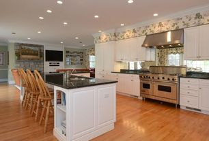 Traditional Kitchen with Sunset Trading Sunset Selections Comfort Back Side Chair, L-shaped, Crown molding, Quartz