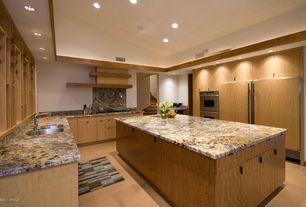 Contemporary Kitchen with Stonemark granite solaris, Flush, KWC LIVELLO Single Lever Faucet, Complex granite counters