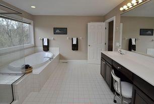 Traditional Full Bathroom with Undermount sink, Frameless shower door, Simple Marble, Master bathroom, Raised panel