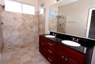 Contemporary Master Bathroom with Master bathroom, Simple Granite, Simple granite counters, Undermount sink, High ceiling