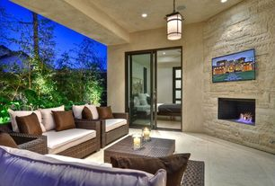 Modern Porch with Screened porch, French doors