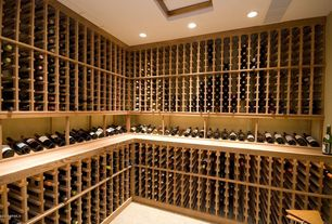 Craftsman Wine Cellar with Built-in bookshelf, Carpet