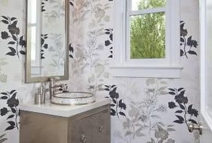 Traditional Full Bathroom with Casement, Simple marble counters, Standard height, wall-mounted above mirror bathroom light