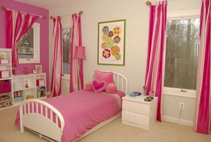 Modern Kids Bedroom with Carpet
