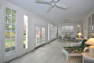 Country Porch with Casement, specialty window, Screened porch, French doors