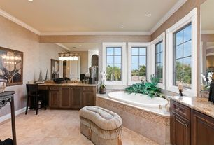 Traditional Full Bathroom with Frameless, Art desk, Arizona Tile Juparana Florence Granite, Powder room, Simple Granite