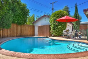 Eclectic Swimming Pool with Other Pool Type, Fence, Gate, Deck Railing