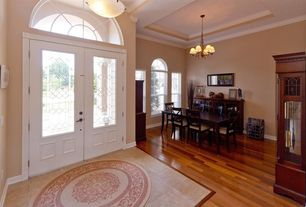 Traditional Entryway with Laminate floors, Bruce-Clicklock 3/8 in. x 5 in. Maple Cinnamon Engineered Hardwood Flooring