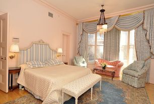 """Country Guest Bedroom with Maxim Chantilly 22"""" Wide Nickel Jewelry Chain Chandelier, Paint 1"""