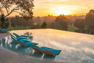 Contemporary Swimming Pool with Pool lounge chairs, Zuo Modern Sydney Lounge Chair Espresso, Infinity pool