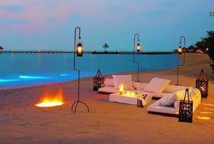 Patio with Indian ocean, Fire pit, Taj exotica resort, Emboodhu finolhu island, republic of maldives