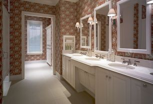 Traditional Powder Room with Undermount sink, Simple Marble, Simple marble counters, Arizona tile,THASSOS WHITE, Marble