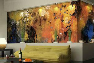 Asian Living Room with Gloabal Furniture USA - Modelle Coffee Table, Safavieh - Paris Shag