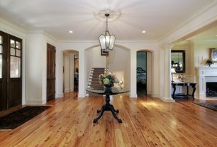 Traditional Entryway with Hardwood floors