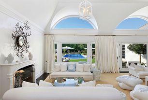 Modern Living Room with Hampton Garden Stool - White w/ Gray Pattern, Wisteria Sheldon Armless Sofa