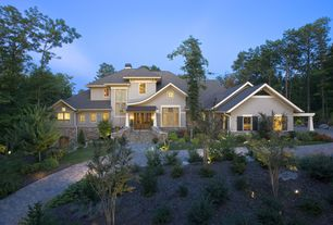 Country Exterior of Home with Accent landscape lighting