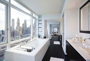 Contemporary Master Bathroom with Signature Hardware - Ultra Wall-Mount Bathroom Faucet with Lever Handles