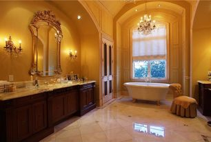 Traditional Master Bathroom with Sunrise Specialty 72 Inch Cast Iron Double Ended Clawfoot Tub with Imperial Feet