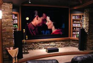 Rustic Home Theater